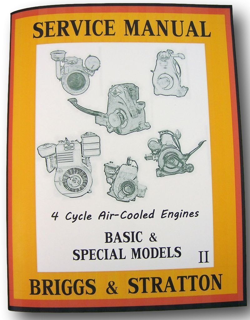 Amazon.com: Briggs Stratton 8Bh 8Bha Engine Service Shop Overhaul Repair  Manual: Industrial & Scientific