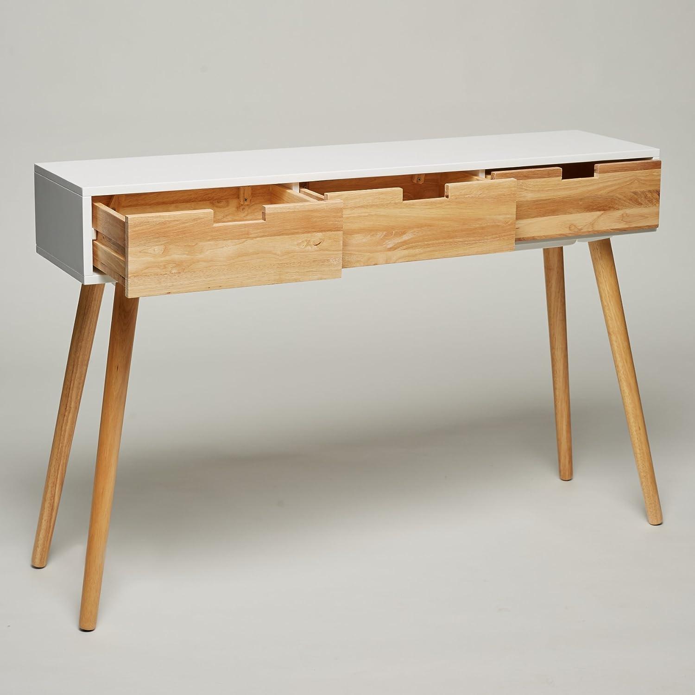 Console en bois blanc 120 x 30 x 80 cm panneau d appoint #2: 71w2teygtXL SL1500
