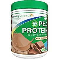 Growing Naturals | Plant Based Protein, Gold Standard Raw Pea Protein Powder | Chocolate Power | Non-GMO, Vegan, Gluten…