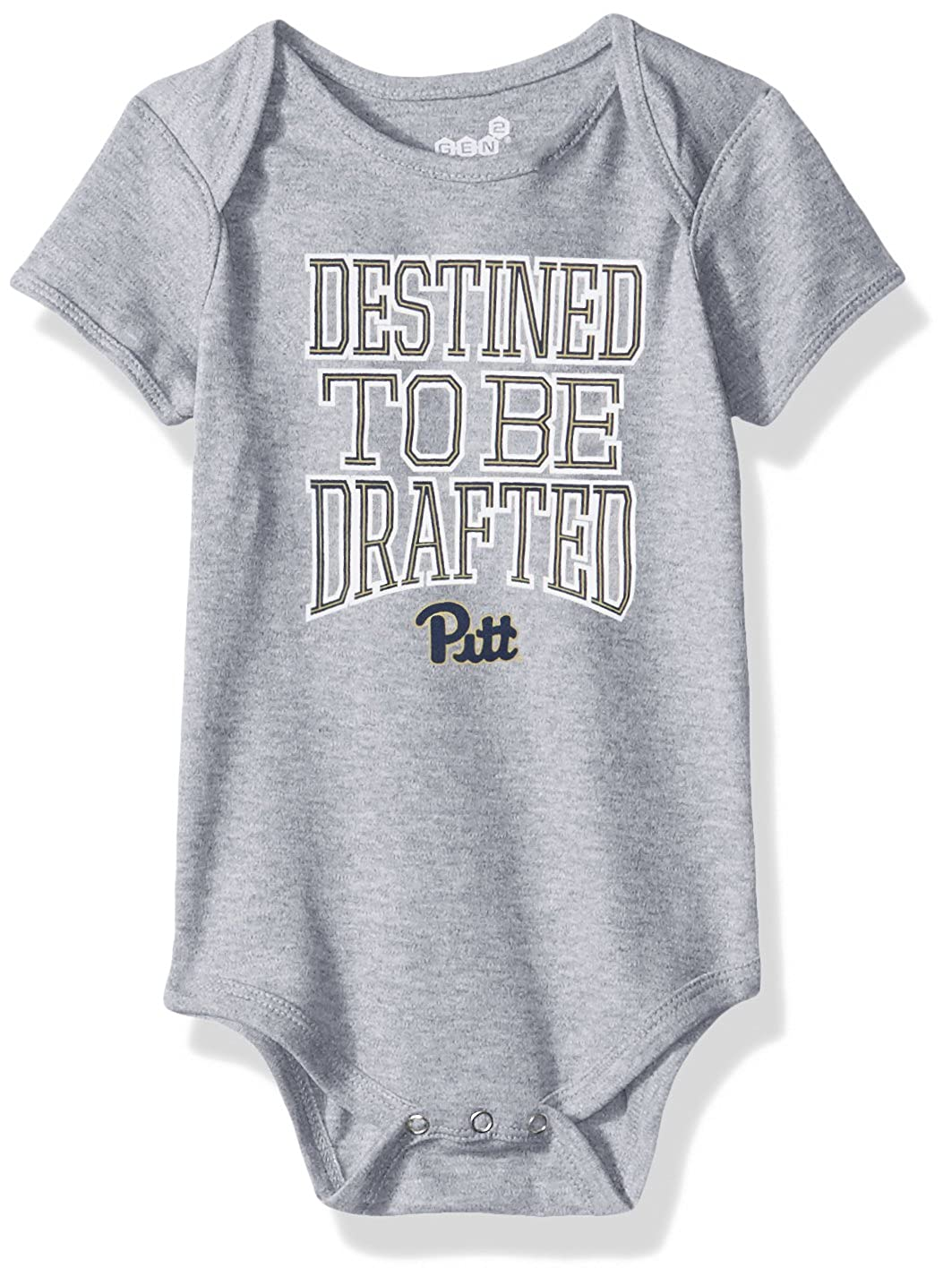 24 Months Heather Grey NCAA by Outerstuff NCAA Pittsburgh Panthers Newborn /& Infant Destined Short Sleeve Bodysuit