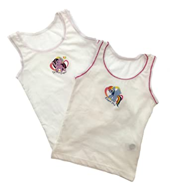 358b79662 Kids Girls Toddlers 2 Pack Character My Little Pony Underwear Vests ...
