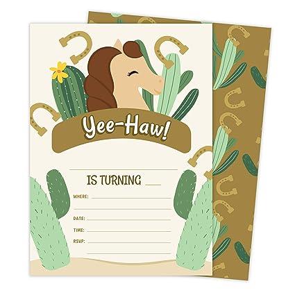 Amazon.com: Tarjetas de invitación para cumpleaños, diseño ...