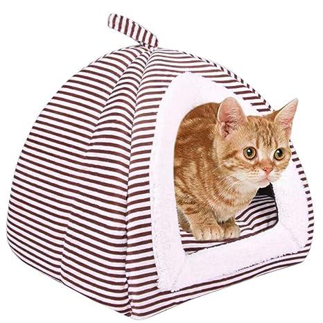 Casa para Mascotas, Legendog Dog Cave Cuna Plegable Lavable Cama para Gatos para Exteriores M