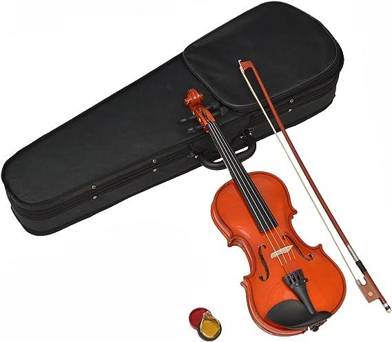 ts-ideen - Violín infantil (1/8, madera de arce, para niños de 4 a 6 años, incluye estuche, colofonia y arco de crin): Amazon.es: Instrumentos musicales