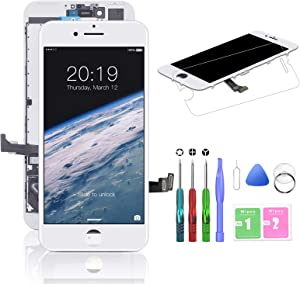 HTECHY Compatible with iPhone 7 Plus Screen Replacement White(5.5