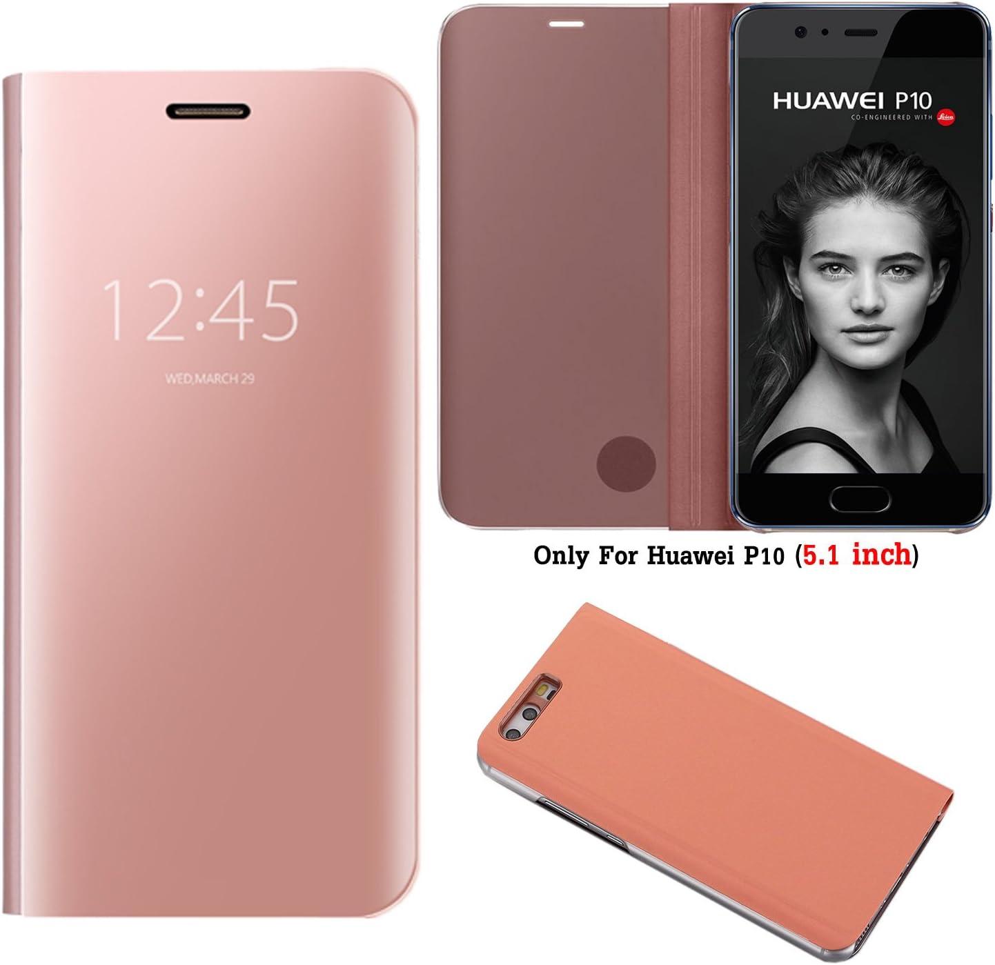 Guran® Mirror Efecto Espejo Funda para Huawei P10 Clear View ...