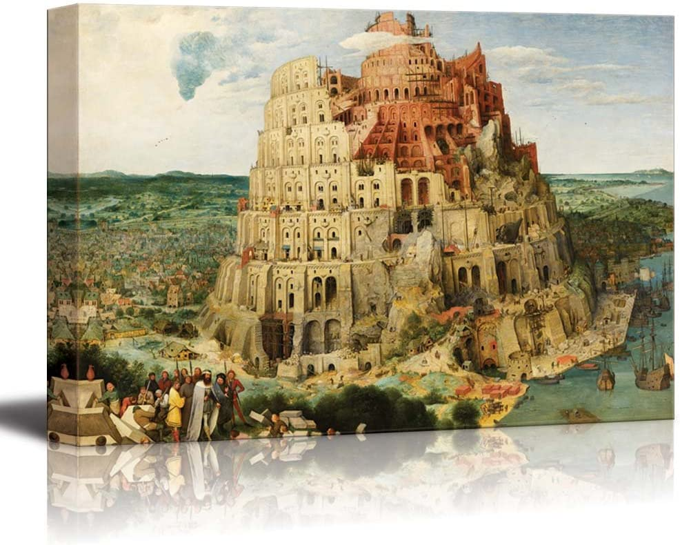 Amazon Com The Tower Of Babel Vienna By Pieter Bruegel The Elder Canvas Print Wall Art Famous Painting Reproduction 24 X 36 Posters Prints
