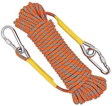 Jeffrey Cuerda de Escalada Naranja de 10 m, Cuerda de ...