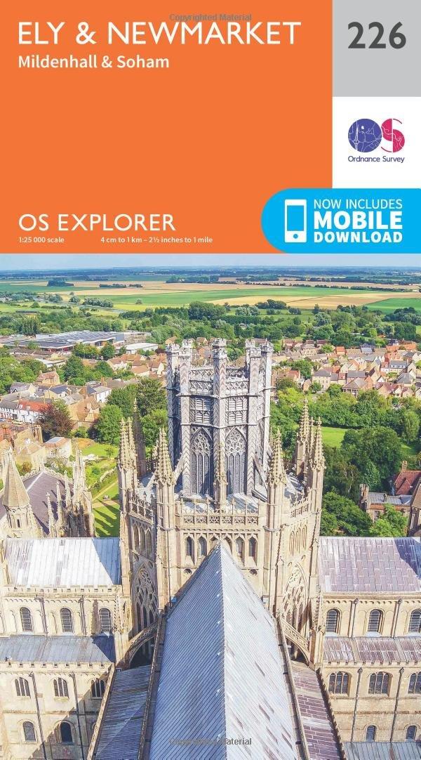 Ordnance Survey Explorer 226 Ely & Newmarket Map With Digital Version Mildenhall and Soham 0319244199 Travel & Holiday Cambridgeshire