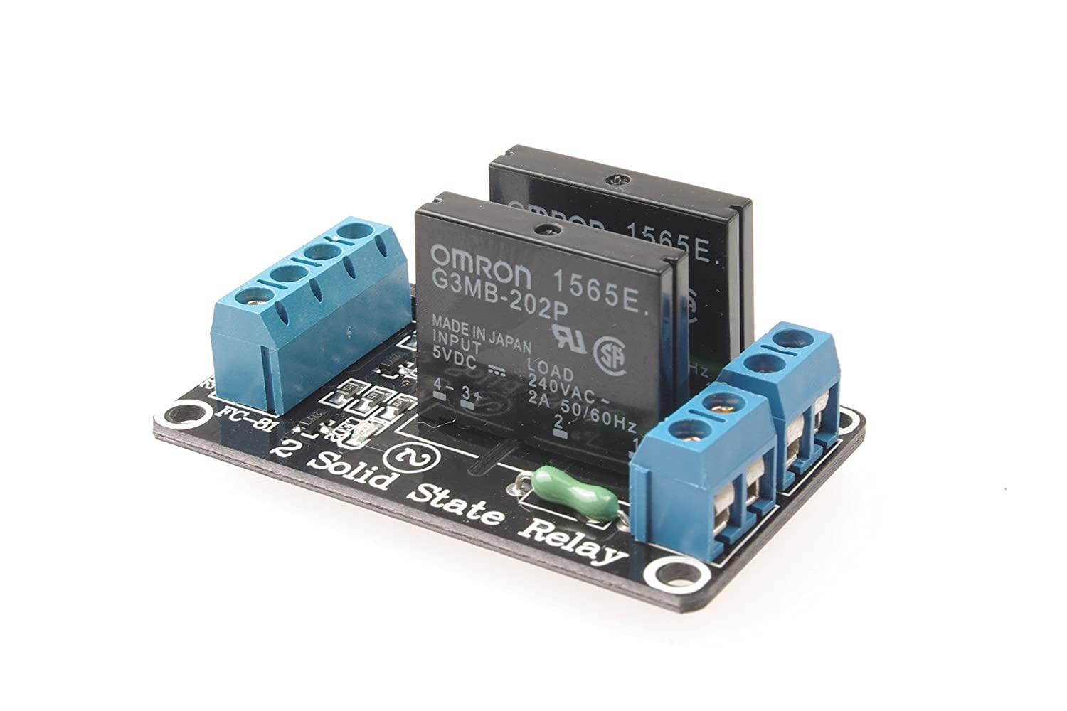 Smakn 5v 2 Channel Low Level Solid State Relay Board For Dc 1 Module High Fuse Arduino Uno Duemilanove Mega2560 Mega1280 Arm Dsp Pic Home Audio Theater