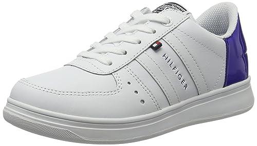 Tommy Hilfiger Z3285ero Jr 7a, Zapatillas para Niños, Blanco (White-Surf The Web 913), 36 EU: Amazon.es: Zapatos y complementos