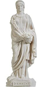 Demeter Goddess of The Harvest and Agriculture Alabastater Statue 8.6 Inch