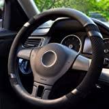 BOKIN Steering Wheel Cover Microfiber Leather and Viscose, Breathable, Anti-Slip, Odorless, Warm in Winter and Cool in…