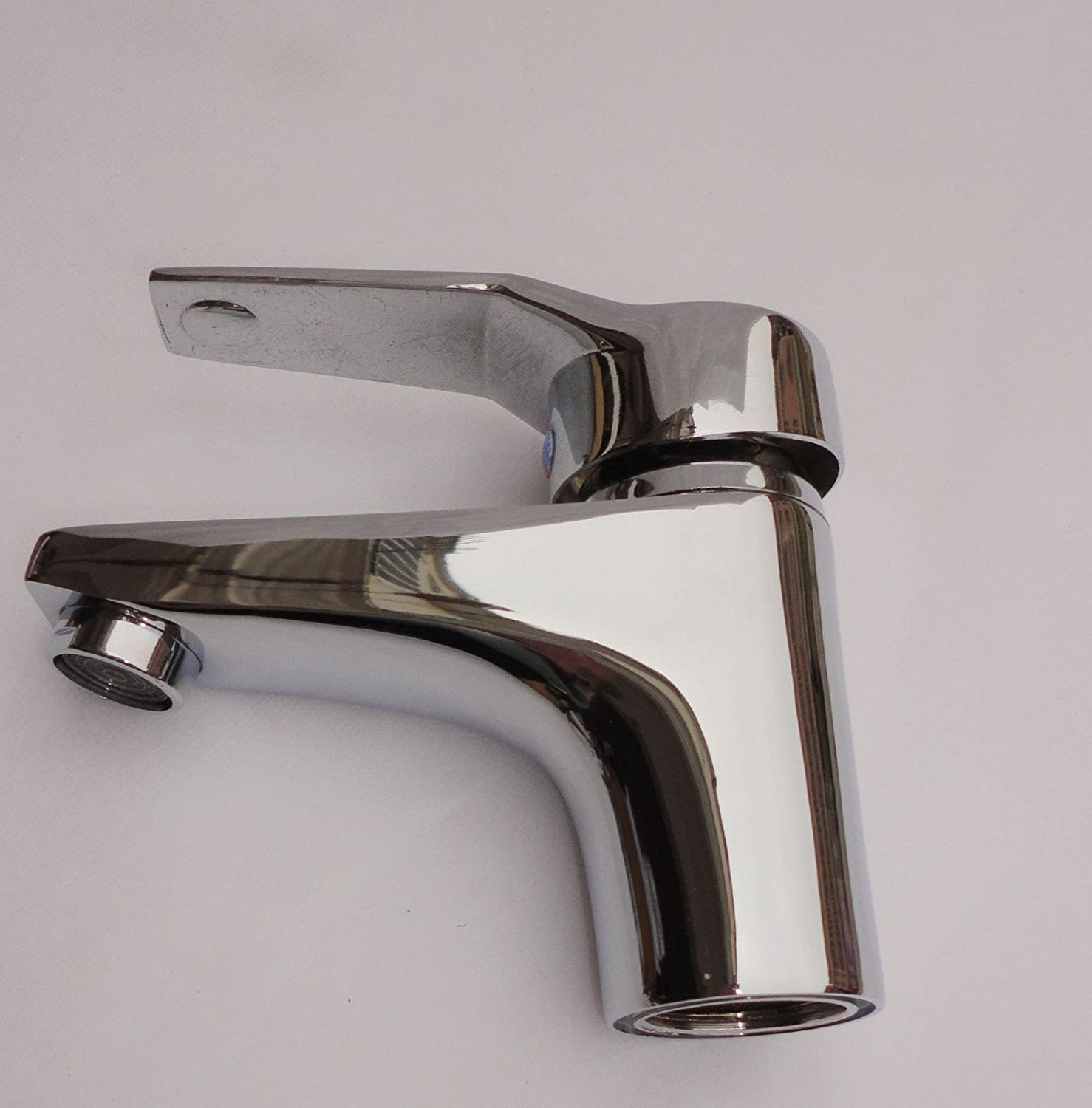 TS-nslixuan-Water tap Cold And Hot Basin Faucet Copper Single Hole Washbasin