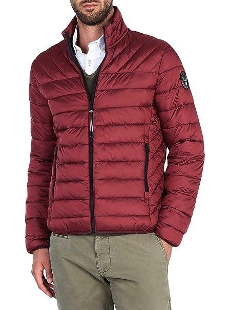 Napapijri Hombres chaqueta acolchada aerons Burdeos L ...