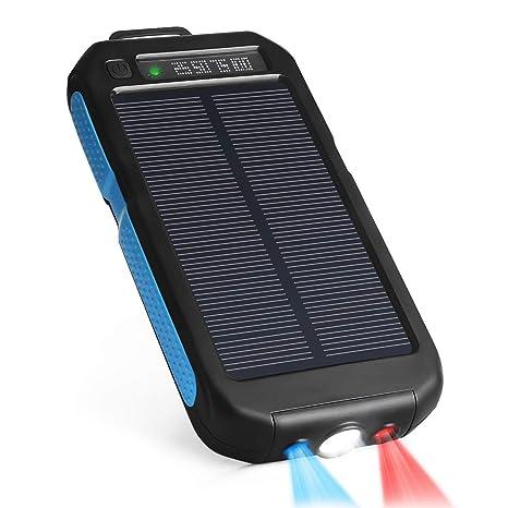 KANGLE Cargador Solar Power Bank, Portátil 10000Mah Cargador ...