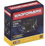 Ruedas Magformers con placa de base del edificio y juguete de construcción (2 piezas)