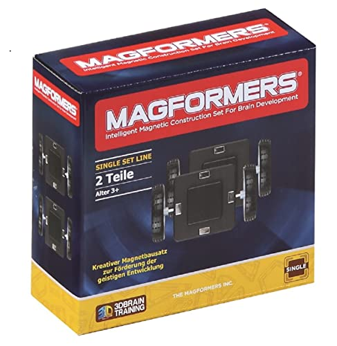 Magformers Wheels with base plate Building and Construction Toy (2-Piece)