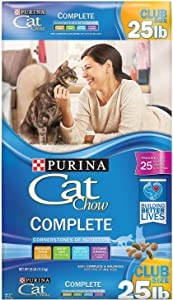Cat Chow Best Cat Food Purina Complete 22 lb Wellness Feast Gourmet Dry Nutrition Cats Food Natural (22 lb)