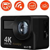 Knotyy® Action Camera 4K WiFi 16 MP with High Speed Shooting & Definition Equipped, Durable Waterproof to 30M with Housing (AC-001)