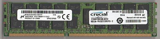 Crucial CT204872BB160B PC3-12800R DDR3 1600 16GB ECC REG 2RX4 (للخادم فقط)