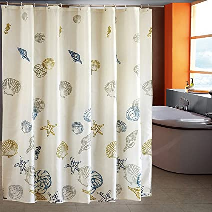 Riverbyland Shower Curtains Shell Beige 72quot X 80quot