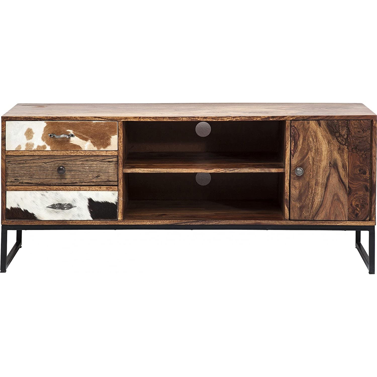 Meuble Tv En Bois Rodeo 3 Tiroirs 2 Portes Kare Design Amazon Fr  # La Redoute Meuble Tv