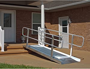 Prarie View Industries 7-ft x 36-in Solid with Handrails Wheelchair Ramp