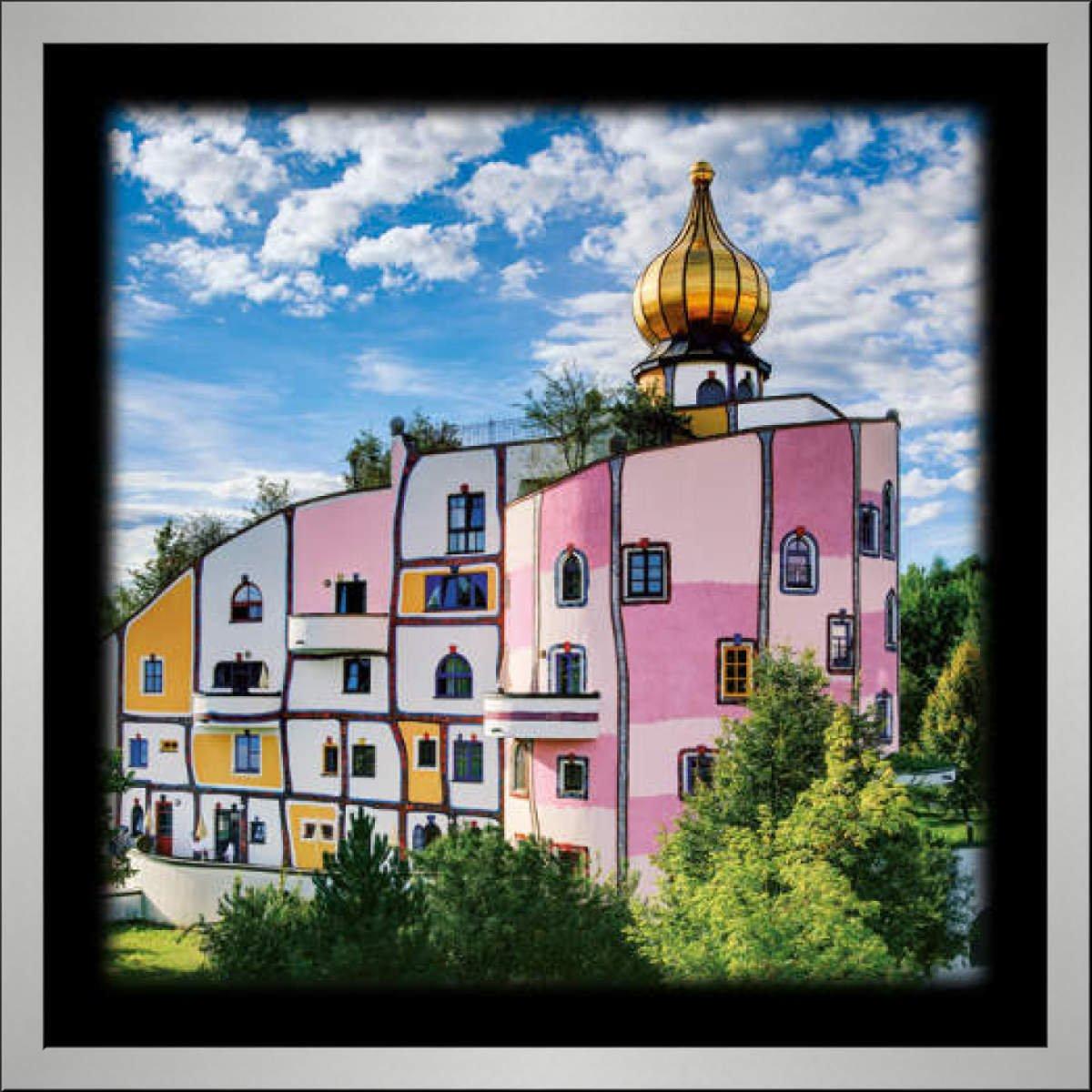 kunst für alle Bild mit Bilder-Rahmen: Friedensreich Hundertwasser ...