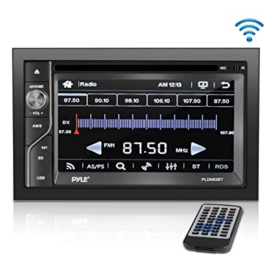 Upgraded Pyle Double Din Touchscreen | DVD CD Player | Bluetooth Handsfree Calling | 6.5 In LCD Monitor | USB/Micro SD Card Slot | AM FM Radio | RCA To AUX Input | Remote Control Included (PLDN63BT),BLACK: Car Electronics