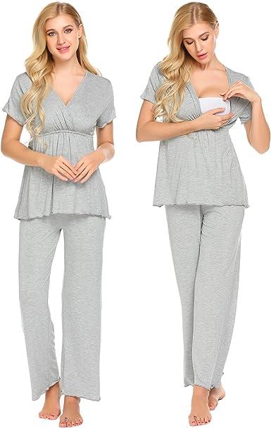 MAXMODA Womens Maternity Nightwear Set
