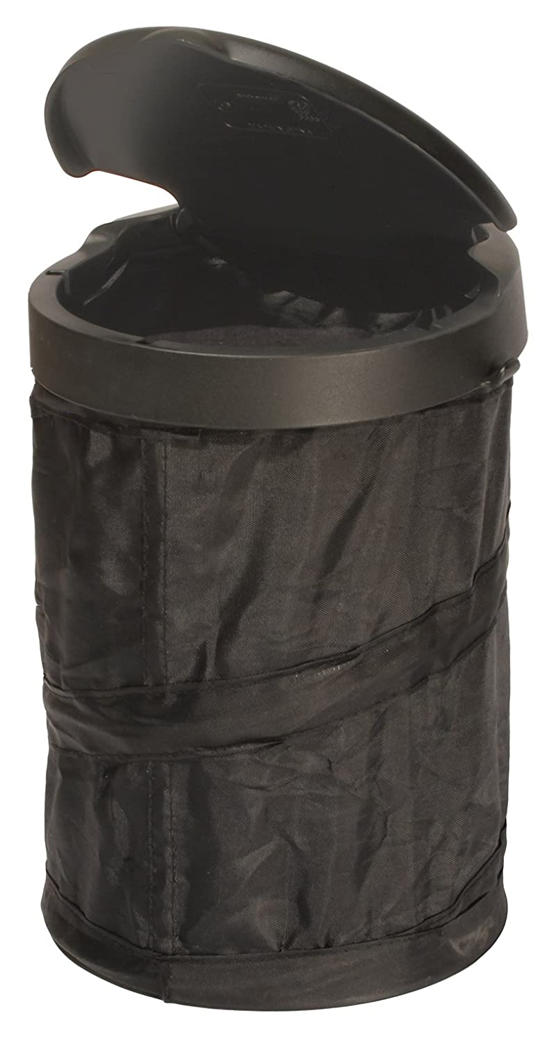 Rubbermaid 3338-20 Automotive Pop Up Trash Can with Flip Top Lid: Hanging Car Garbage Bin/Waste Basket Organizer Caddy