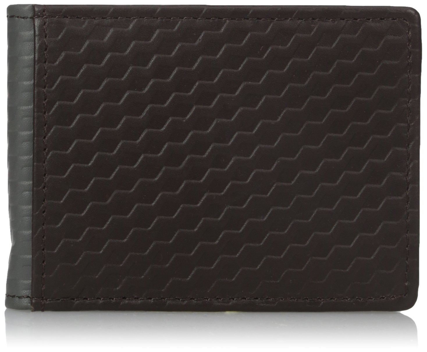 Buxton Men's Bellamy RFID Blocking Leather Front Pocket Slim Flip Wallet with Money Clip, Tan, One Size