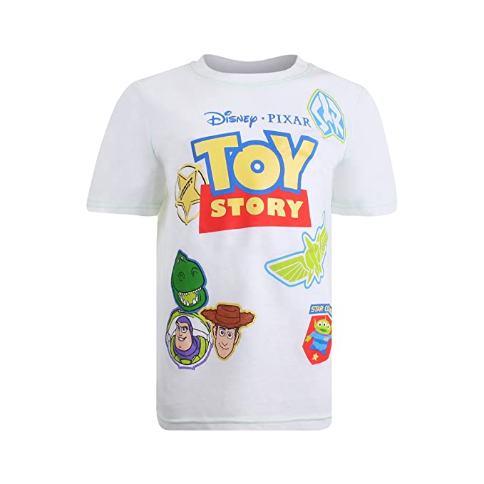 dc6b85d5a Disney Toy Story-Patches Camiseta Blanco White