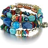 Yellow Chimes Bohemian Beads Charm Bracelet Earrings for Women & Girls