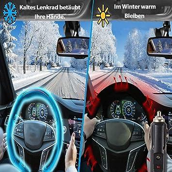 Universal f/ür Alles Fahrzeug Big Hippo Lenkradh/ülle Auto Lenkradheizung beheiztes Lenkrad Lenkrad Heizung 12V Auto Lenkrad W/ärmer Winter Schwarz