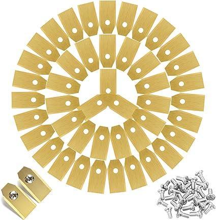 Preciva - 45 cuchillas de repuesto para cortacésped, hoja de cortacésped adaptada a Husqvarna, Automower y Gardena