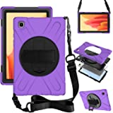 ZenRich Galaxy Tab A7 10.4 Case 2020, SM-T500/T505/T507 Case with Screen Protector Kickstand Hand Strap and Shoulder Strap ze