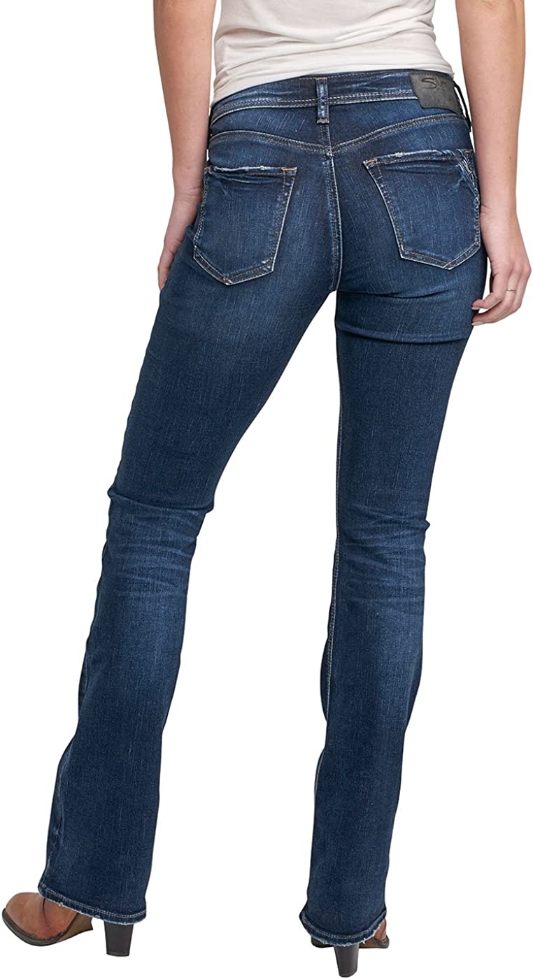 Womens Avery Curvy Fit High Rise Slim Bootcut Jeans Silver Jeans Co