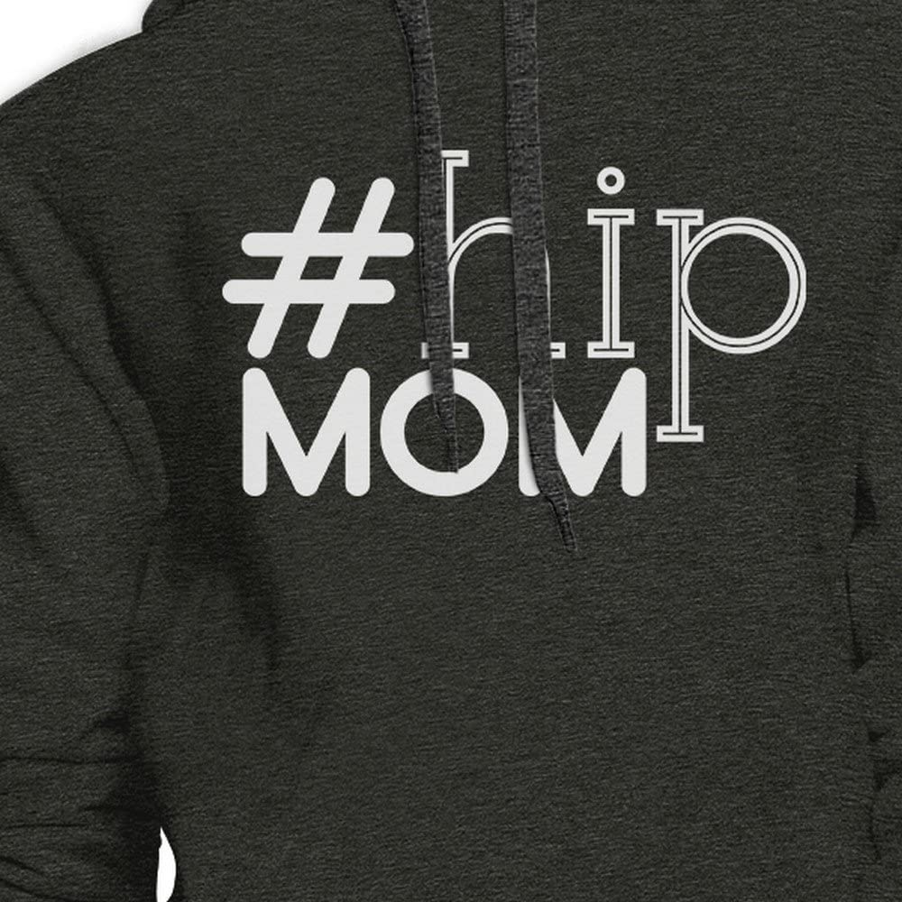 Hip Mom Charcoal Gray Unisex Graphic Hoodie Unique Gifts for Moms