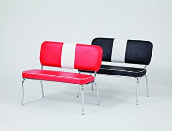 Just Americana.com American Diner Furniture 50s Style Retro Bench Red