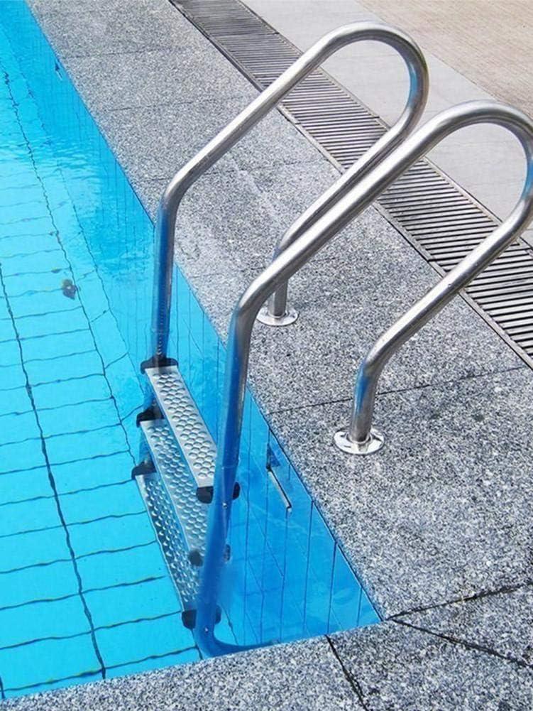 yestter – Escalera para piscinas en tierra, pedales de piscina de acero inoxidable 304, escalera de repuesto, escalones de peldaños antideslizantes, accesorios nuevos, escalera antideslizante de repuesto, Silber-, Punktpedal: Amazon.es: Hogar