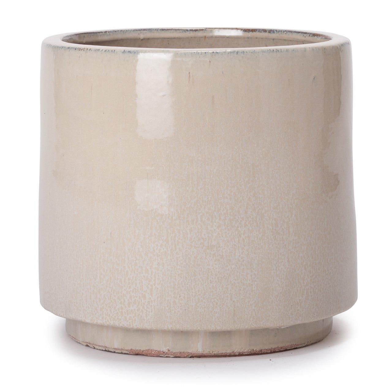 植木鉢 大型中型 ヴィトロ エンデカ インナーポット付き M 10号 クリーム釉 B07D98SRTC M 10号|クリーム釉 クリーム釉 M 10号