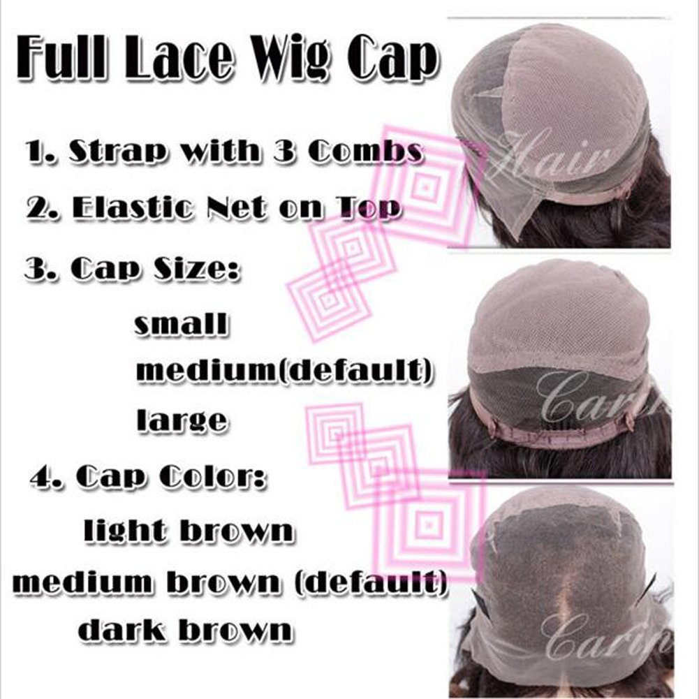 Wicca Brazilian human hair Ombre blonde Full lace wigs Dark root Loose wave Lace front wig Bleached knot Pre plucked hairline 150%density (18inch, 1b/27 lace front wig) by Wicca (Image #7)