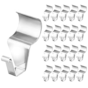 No-Hole Needed Vinyl Siding Hooks Hanger, 20 Pack Heavy Duty Stainless Steel Siding Clips for Outdoor Decor Hanging
