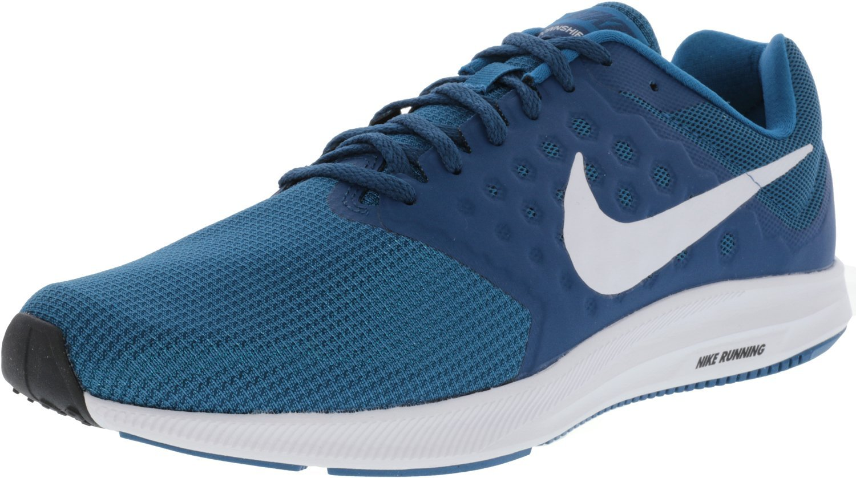 NIKE Men's Downshifter 7 Running Shoe B072LHN8F7 13 D(M) US|Green Abyss/White-blue Force