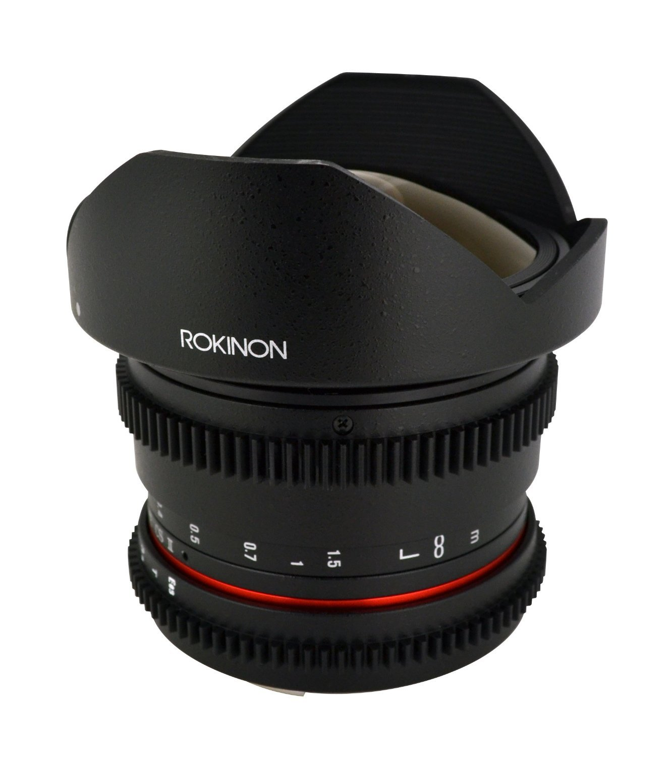 Rokinon RKHD8MV-C HD 8mm t/3.8 Fisheye Fixed Lens for Canon with De-clicked Aperture and Removable HoodWide-Angle Lens [並行輸入品]   B019SZG880