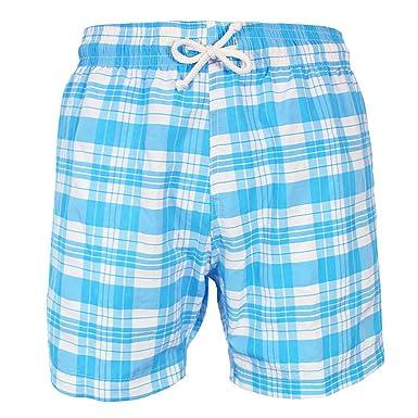 1c4bc4ea3e les loulous de la plage Men's Swimwear Swimming Beach Shorts Blue and White  - Jules -