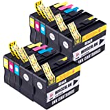 PerfectPrint 932XL 933XL - Cartucce di ricambio compatibile per HP Officejet, Nero/Ciano/Magenta/Giallo, 10 pezzi