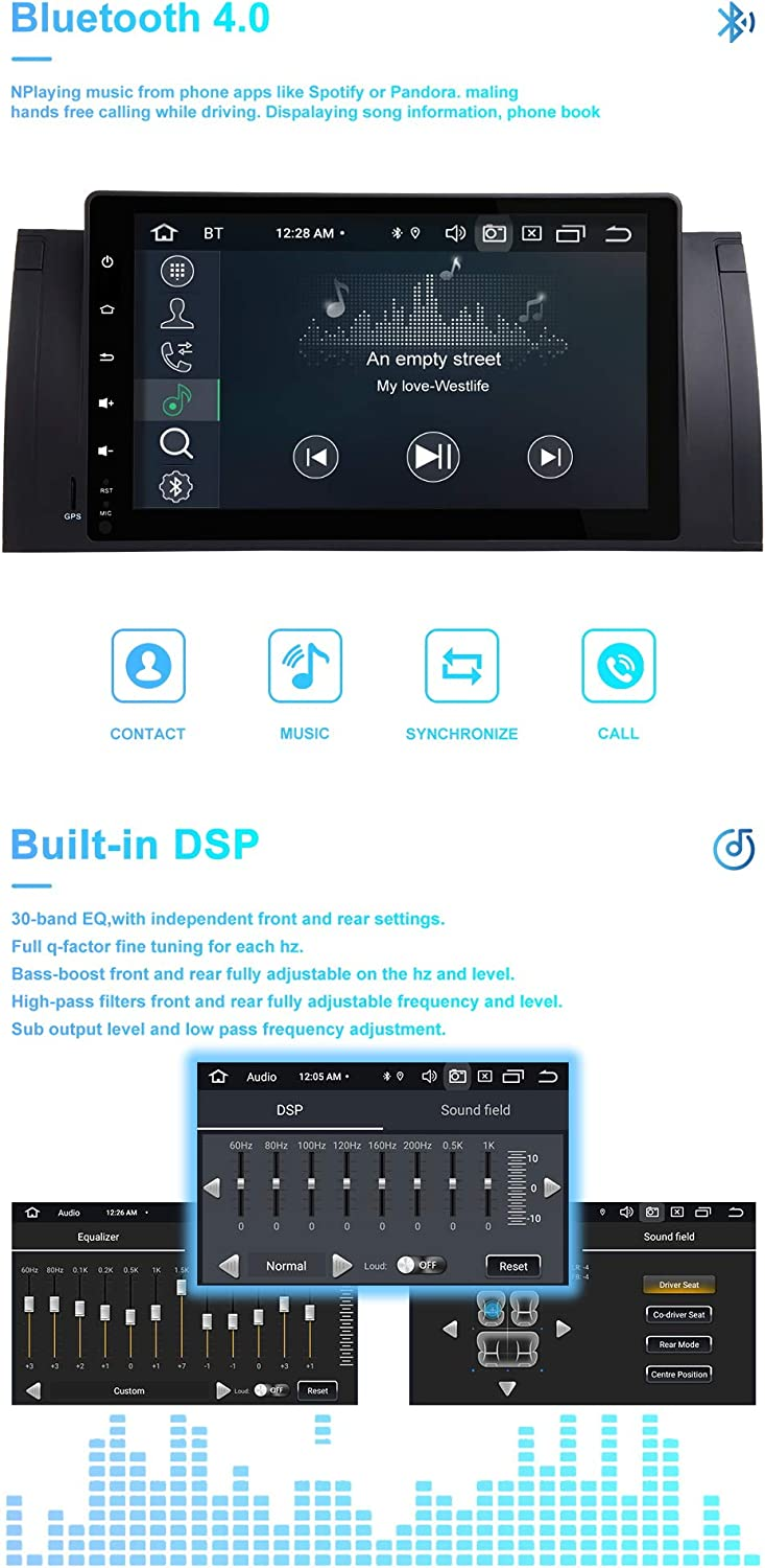 Zltoopai Car Multimedia Player For Bmw X5 E53 E39 Android 10 Octa Core 4g Ram 64g Rom 9 Inch Ips Display Double Din Car Radio Audio Stereo Gps Navigation Navigation